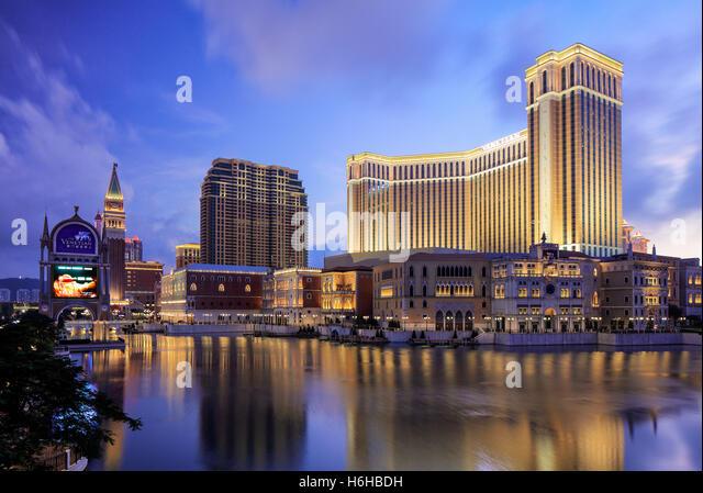 The Venetian Hotel and Casino, Cotai, Macao - Stock Image