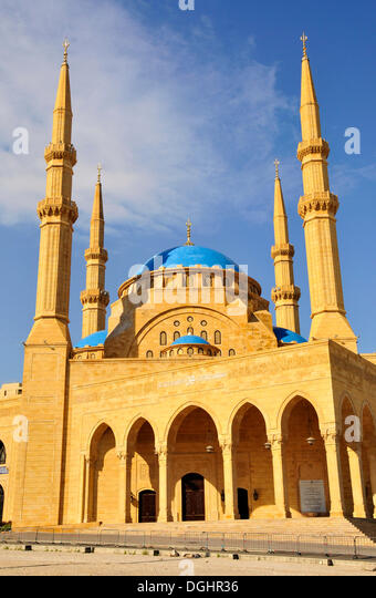 Khatem al-Anbiyaa Mosque, Beirut, Lebanon, Middle East, Orient - Stock Image