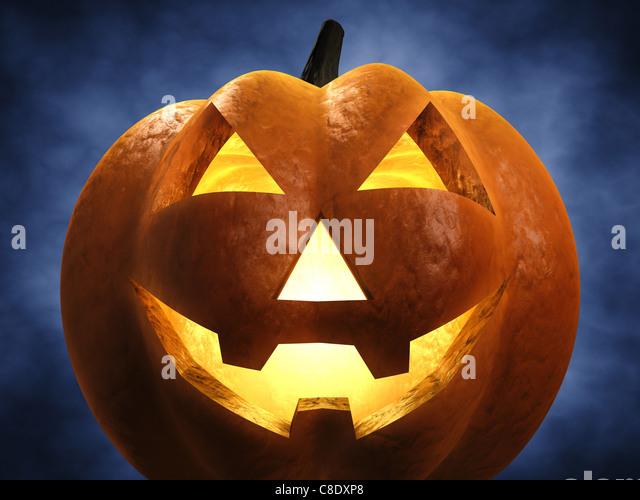 Halloween pumpkin , 3d illustration - Stock Image