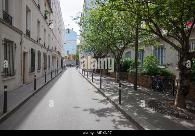 Paris, passage de Ménilmontant, - Stock Image