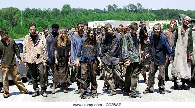 ZOMBIES THE WALKING DEAD (2010) - Stock Image