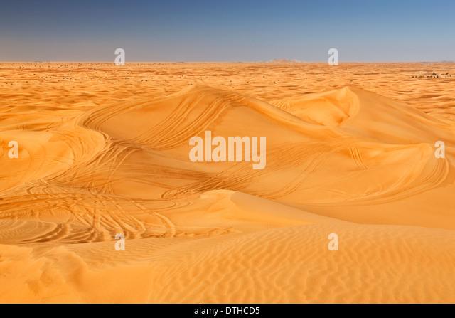 Dubai desert - Stock Image