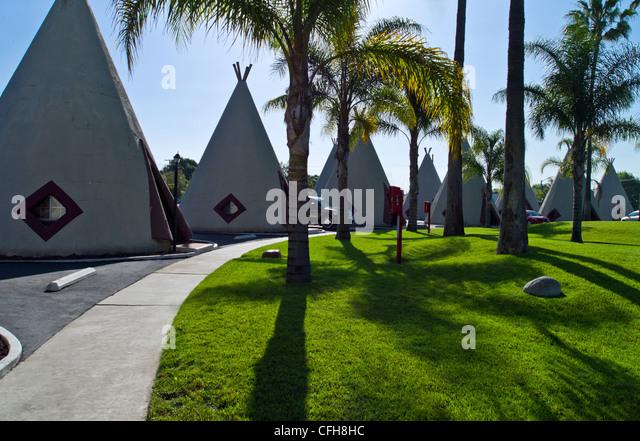 USA, California, Rialto Beach, the Wingwan hotel on Route 66 - Stock Image