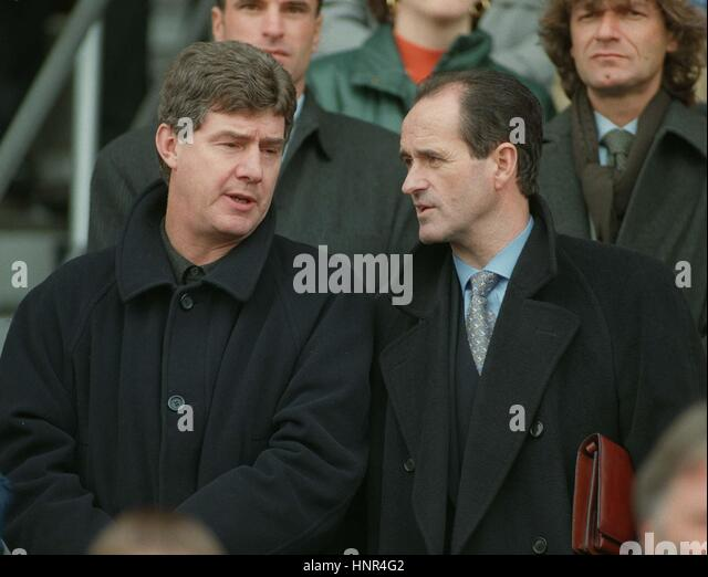 BRIAN KIDD & GEORGE GRAHAM SWITZERLAND V NORWAY 19 November 1996 - Stock Image