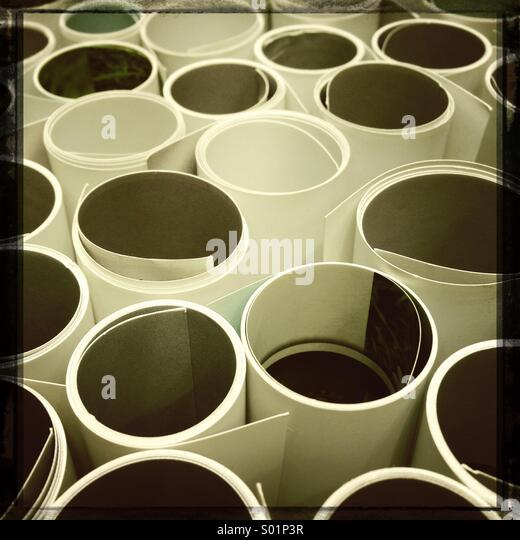 Poster rolls - Stock Image