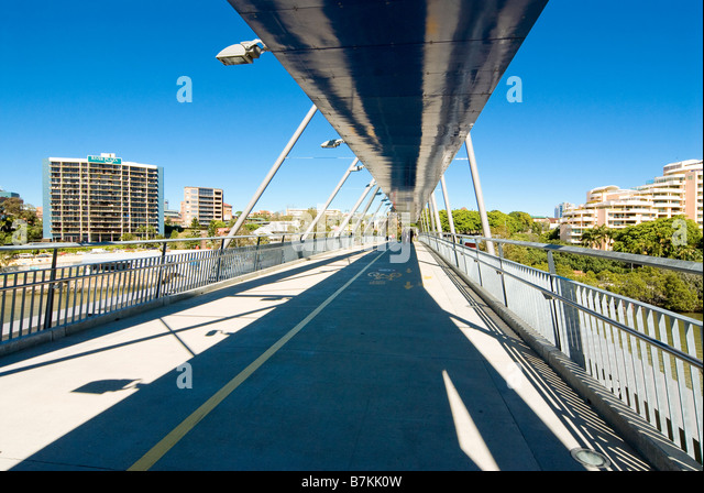 Goodwill Bridge over the Brisbane River, Brisbane, Australia - Stock Image