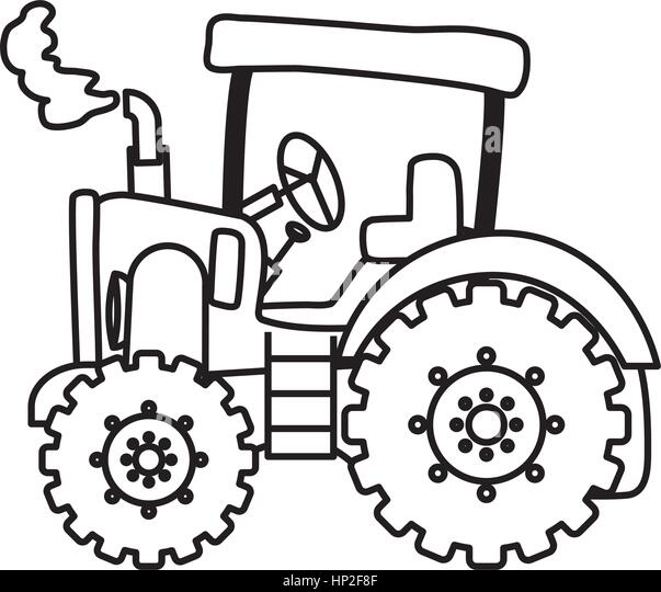 Line Drawing Tractor : Tractor stock vector images alamy