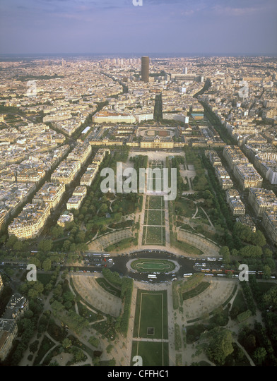 View of Paris from the Eiffel Tower. - Stock-Bilder