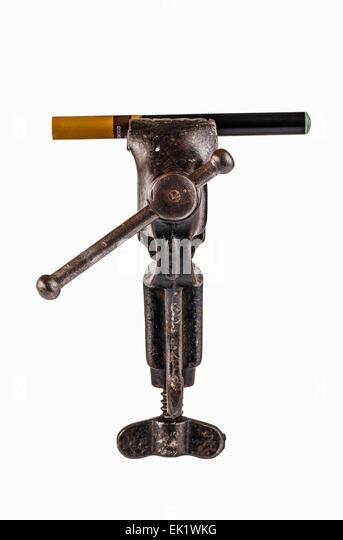 E-Cigarette in a Vice - Stock Image