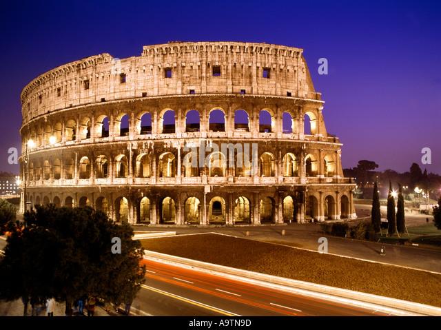 Rome Colloseum at dawn  - Stock Image