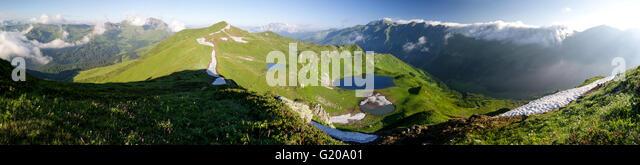 Valley of seven lakes in Abkhazia (Georgia, Caucasus) - Stock Image
