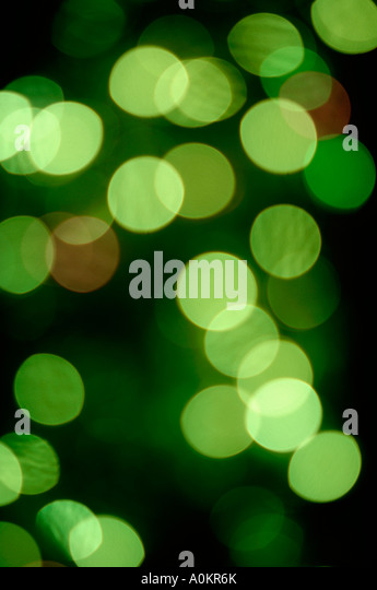 Abstract green lights - Stock Image