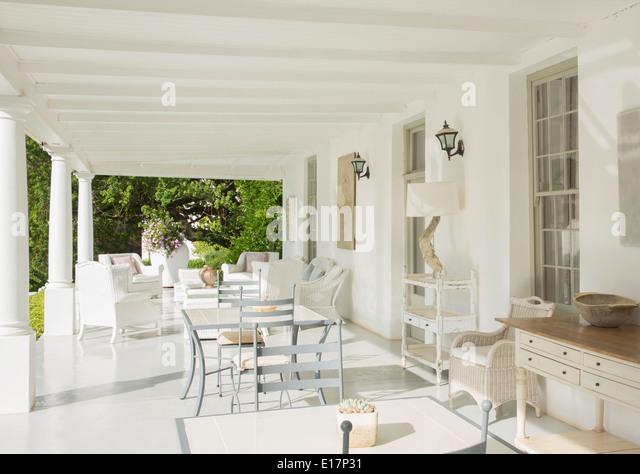 Luxury patio - Stock Image