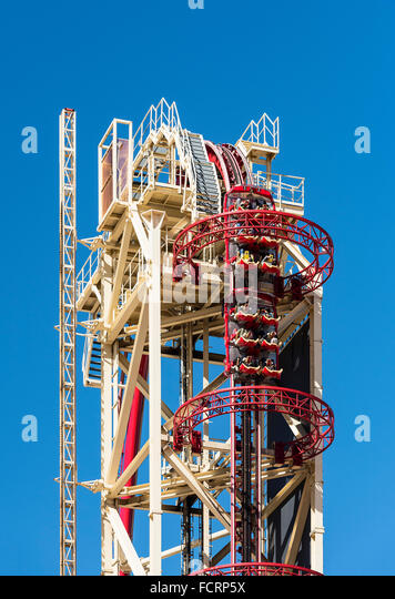 NBC Universal Orlando Resort rollercoaster, Orlando, Florida, USA - Stock Image