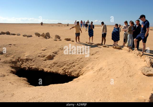 Earthquake damage in Ras Mohamed National Park, Sharm El Sheikh in Egypt - Stock Image