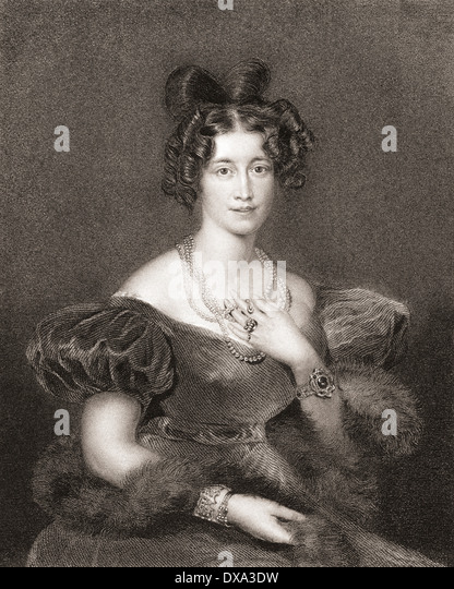 Sophia Sidney, Baroness De L'Isle and Dudley, née FitzClarence, 1796 –1837. Eldest daughter of William - Stock Image