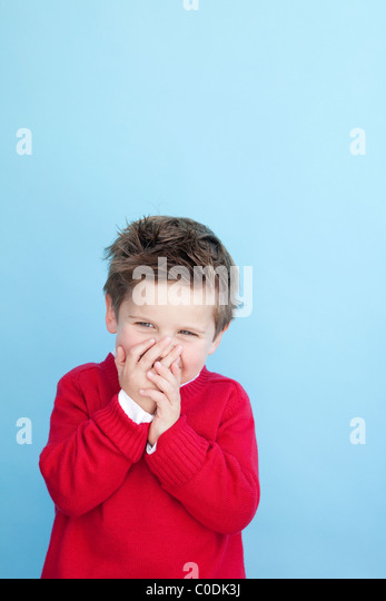 Little boy laughing - Stock Image