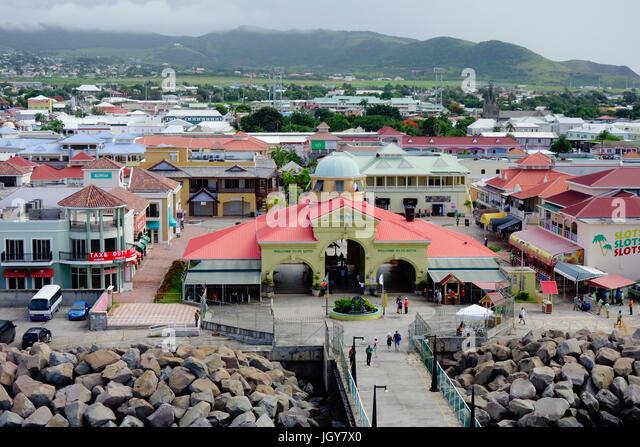 St kitts caribbean island port basseterre stock photos st kitts caribbean island port for Port zante st kitts