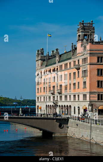 Rosenbad in Stockholm Sweden where the Prime-minister has his office - Stock Image