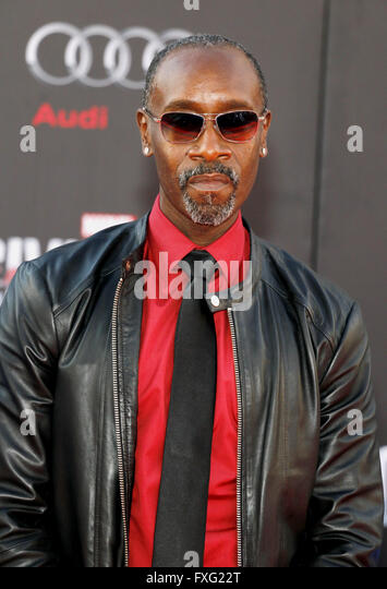 Hollywood, California, USA. 12th April, 2016. Don Cheadle at the World premiere of 'Captain America: Civil War' - Stock Image