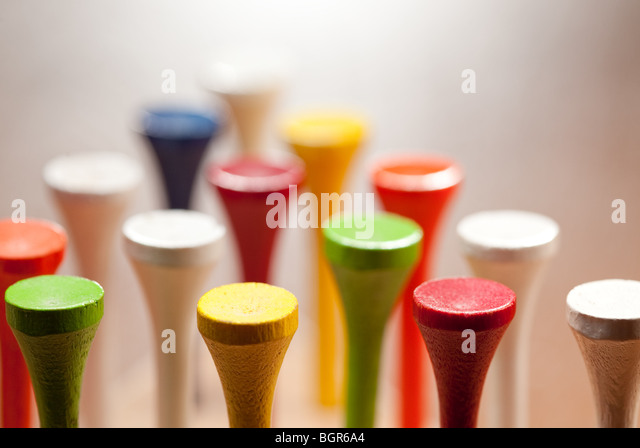 Golf Peg Solitaire game - Stock Image