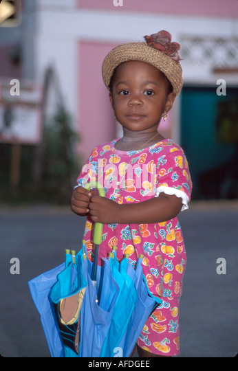 US Virgin Islands St. John Cruz Bay young resident USVI004 - Stock Image