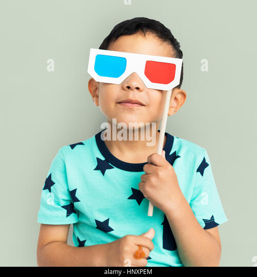 Boy Kid Child Cheerful Happiness Concept - Stock Image