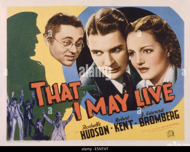 THAT I MAY LIVE, US lobbycard, from left: J. Edward Bromberg, Robert Kent, Rochelle Hudson, 1937. TM & Copyright - Stock Image