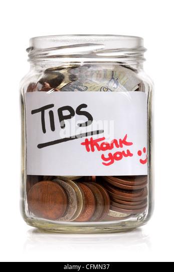Tip jar - Stock Image