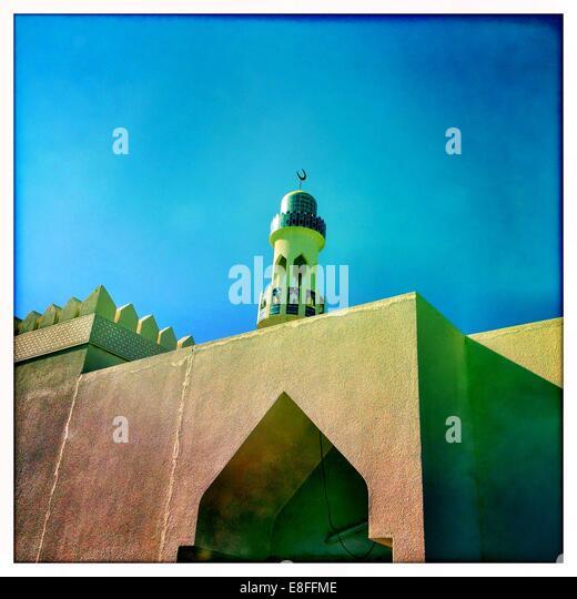 Oman, Low angle view of Minaret - Stock Image