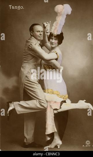 Precision Tango Dancing Couple - Stock Image