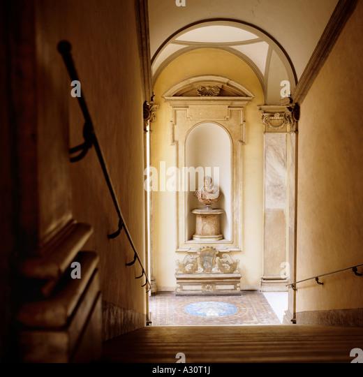 the main staircase of Palazzo Ruspoli in Rome - Stock-Bilder