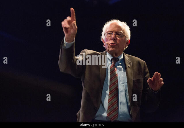 London, UK. 2nd June, 2017. Bernie Sanders, the US Senator from Vermont who ran against Hillary Clinton for the - Stock-Bilder