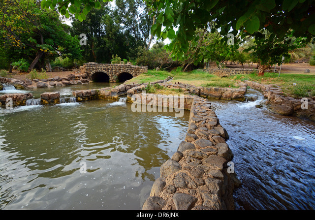 Jordan river Park, Hayarden Park, Israel - Stock Image