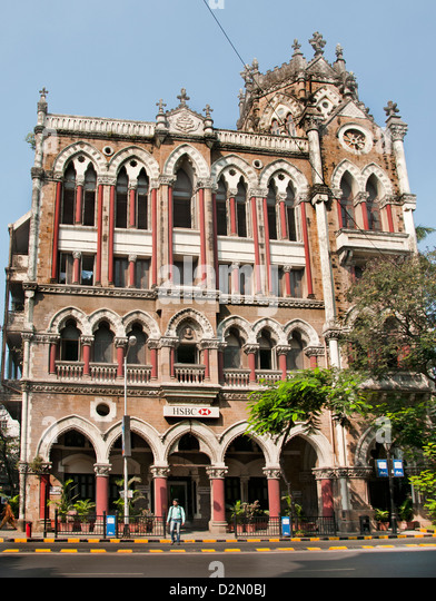 HSBC Bank D N Road  Mumbai Fort ( Bombay ) India - Stock Image