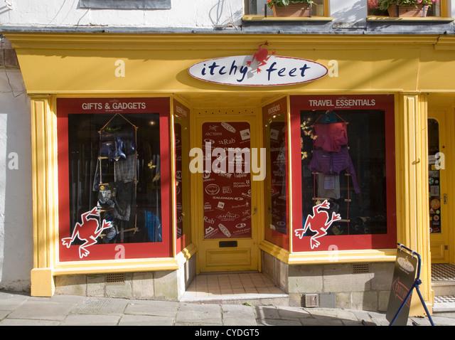Itchy Feet travel shop Bath Somerset England - Stock-Bilder