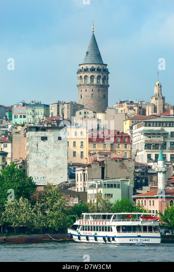 Galata Tower, Istanbul, Turkey - Stock Image