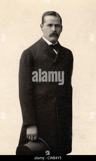 Wild West. Harry Longabaugh, alias Sundance Kid, Photograph by De Young Photograph Studio, N.Y.C. 1901 - Stock Image
