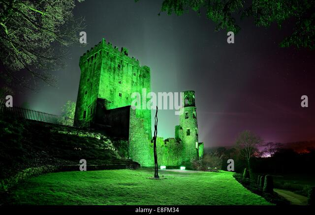 Ireland, Munster, County Cork, Blarney, Blarney Castle at Saint Patrick's day - Stock Image