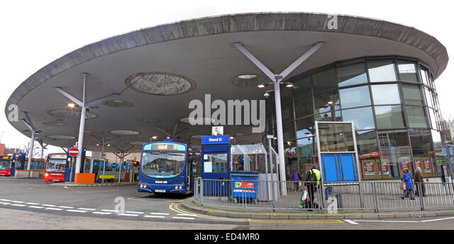 NXWM Walsall Bus Station St Pauls Street Panorama with buses - Stock Image