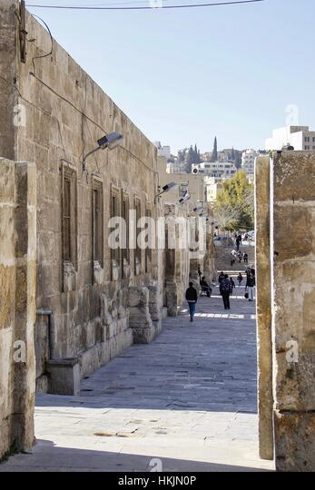 Amman, Jordan - February 8, 2014 The capital of Jordan, view of part of the urban development in the city center. - Stock Image