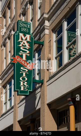The Mast General Store on Gay Street in downtown Knoxville Tennessee - Stock Image