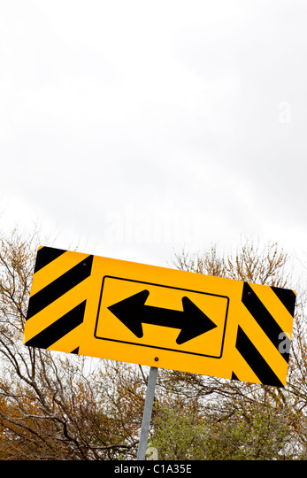 Directional traffic sign, highway. - Stock Image