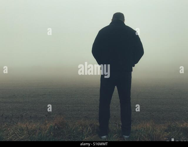 Lonely man - Stock-Bilder
