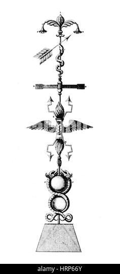 Benjamin Franklin Lightning Rod, 1752 - Stock Image