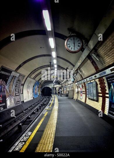Kentish Town Underground Platform - TFL - Stock Image