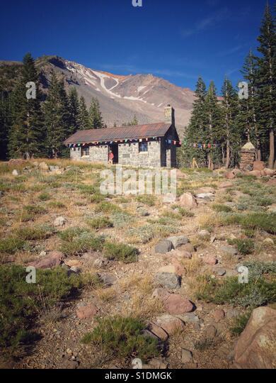 Horse Camp on Mt. Shasta - Stock Image