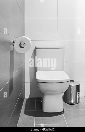 Watercloset stock photos watercloset stock images alamy for White ceramic bathroom bin