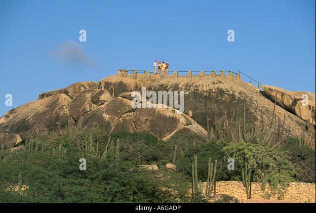 Aruba Casibari Rock Formation caribbean tourist attraction - Stock Image
