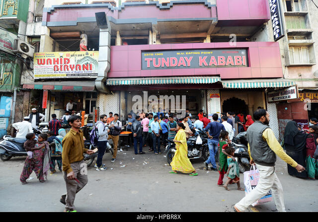 The famous Tunday Kababi restaurant in Lucknow, India. - Stock Image